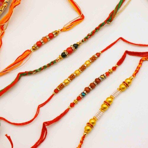 Set of 5 Beaded Rakhis