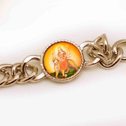 Maa Durga Metal Bracelet  Rakhi