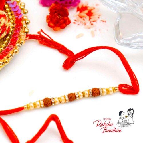 Rudraksh and Pearl Rakhi