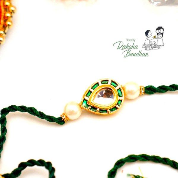 Green Pure Bikaneri Meena Rakhi