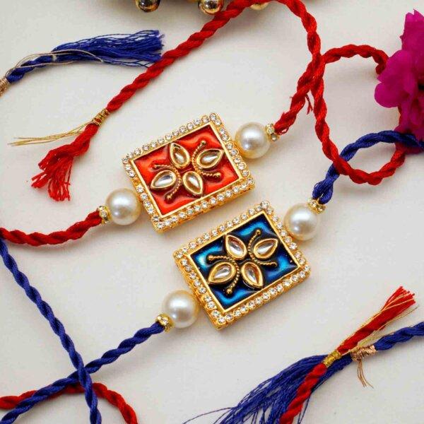 Set of 2 Pure Kundan Rakhis