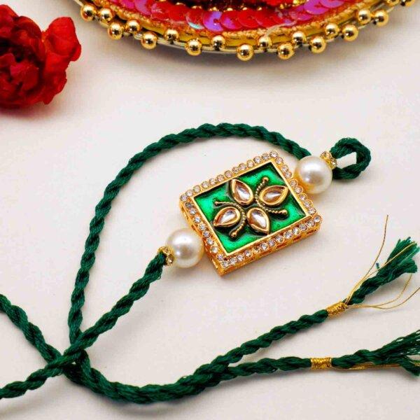 Unique Pure Meena and Kundan Rakhi