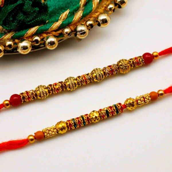 Antique Pair Rakhi Set of 2
