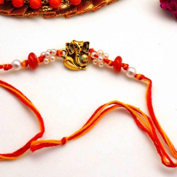 Ganesha Pearl Rakhi