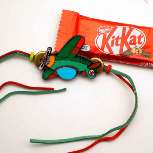 Buy Mera Pilot Bhaiya Rakhi with Kit Kat chococlate Rakhi combo in india