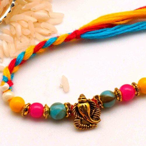 Multicolor Ganpati Rakhi