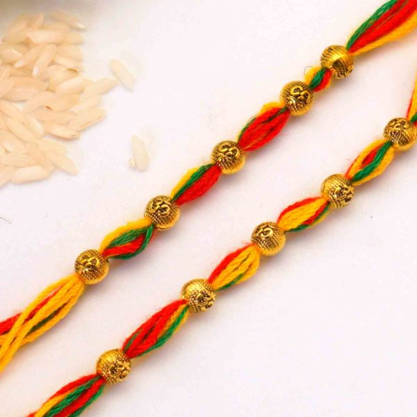 Send Antique Bead Mauli Rakhi to california