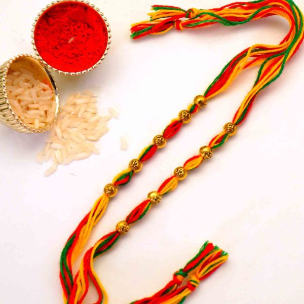 Send Antique Bead Mauli Rakhi to New York