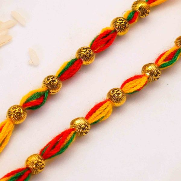 Send Antique Bead Mauli Rakhi to USA