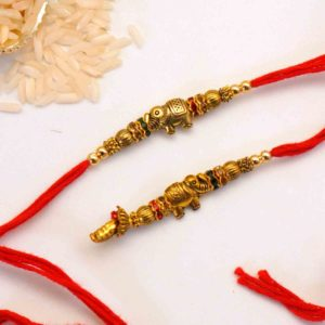 Send antique elephant rakhi to canada
