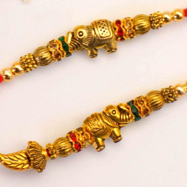 Send antique elephant rakhi to Texas