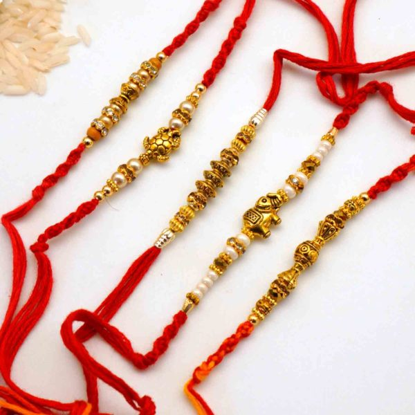 Send antique elephant rakhi to USA