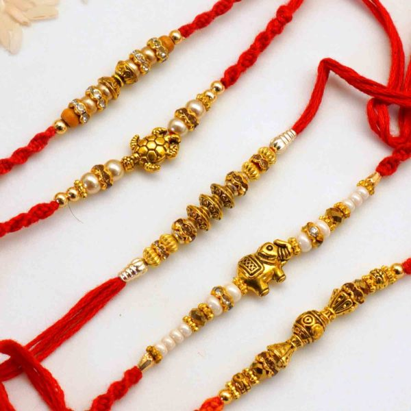 Send antique elephant rakhi to india