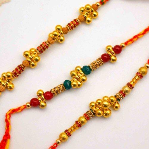 Ghungroo Rakhi set of 3 rakhis