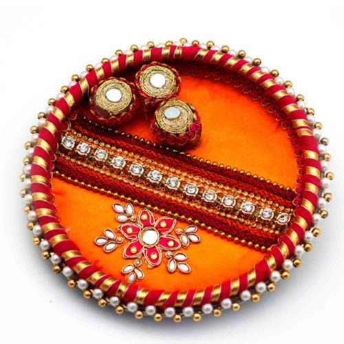 Decorative Thaal for BhaiDooj