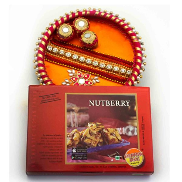 Chappanbhog Delicacies with a perfect Red orange thaal