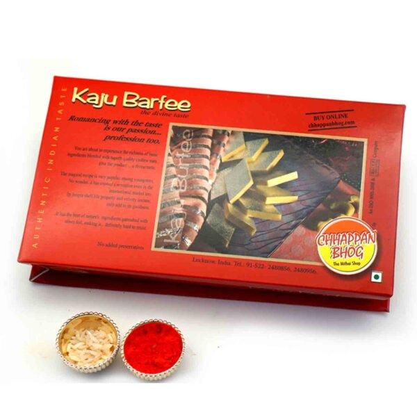 Roli chawal with goodness of kaju barfi