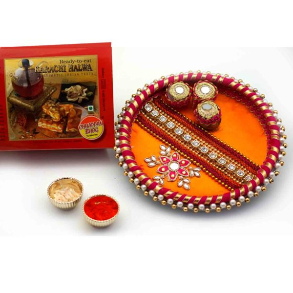Special Designer thali with roli chawal