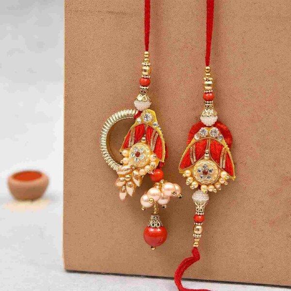Pretty pearls bhaiya bhabhi rakhi