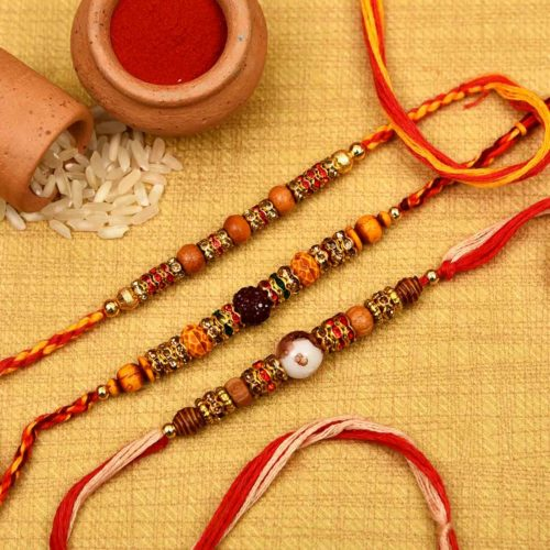 Send Buy Unique Trio Rakhi Online in Pune, India