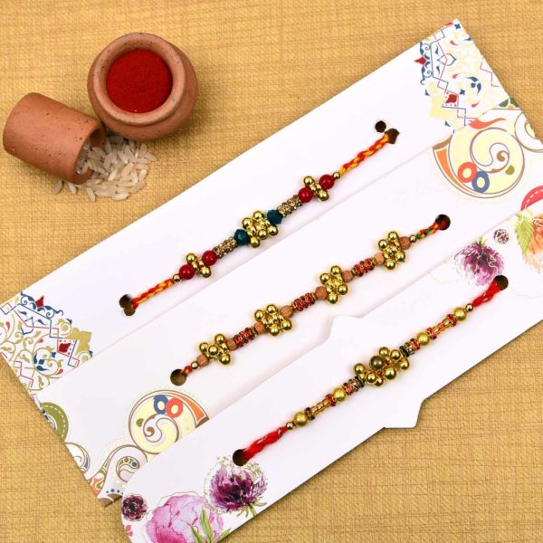 Designer set of ghungroo and crystal beads