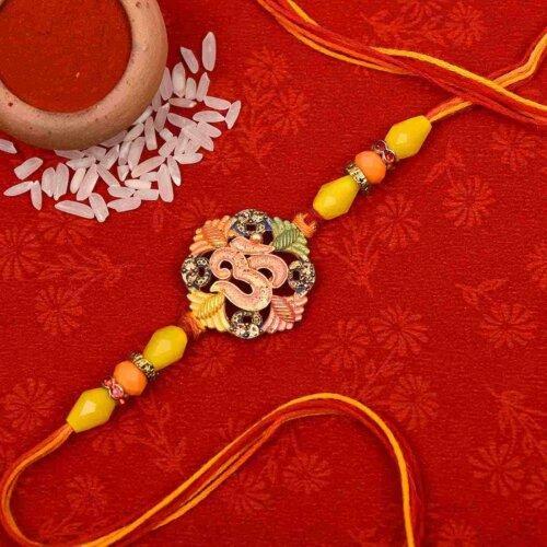 Auspicious Om Flower Rakhi- Online Rakhi in Kolkata