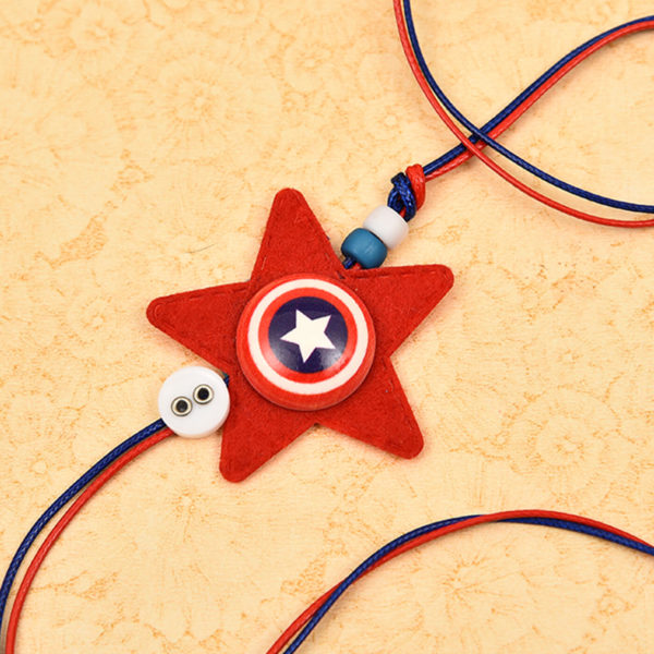 Send Red Star Kid Rakhi online India, Usa