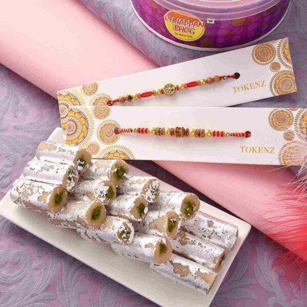 Pista Roll with Multiple Rakhi Threads.