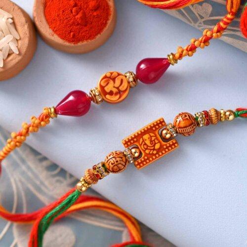 OM Ganesh Rakhis Set of 2
