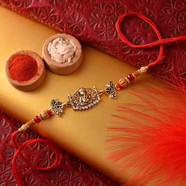 Glittering Ganesha rakhi