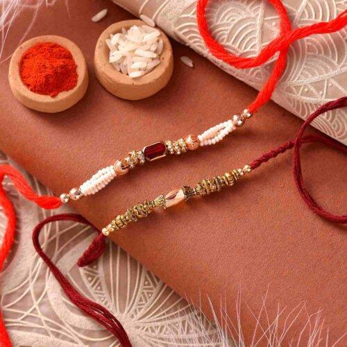 Threads of joy set of 2 Rakhis