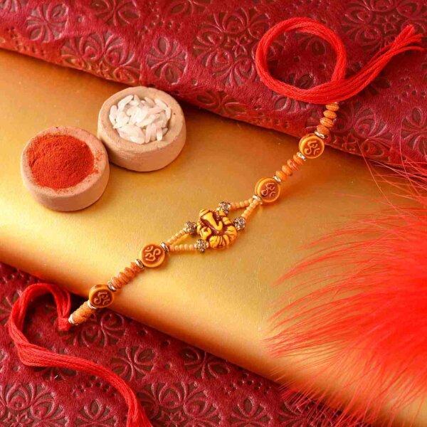 Woooden Ganesh Rakhi