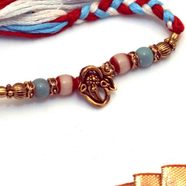 Colored Ganesha Rakhi