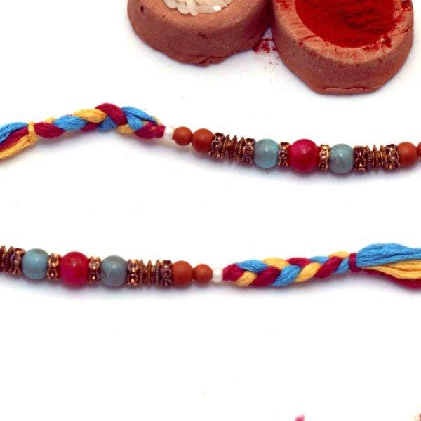 Multicolor beaded Set of 2 Rakhis