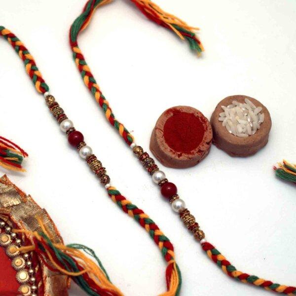 Stringed beads Rakhis Set of 2