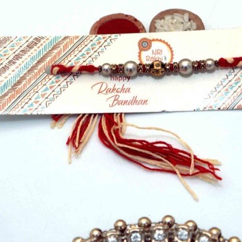 A string of pearl Rakhi