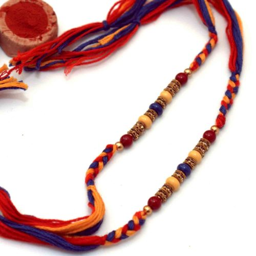 Charming wooden beads Rakhi -Set of 2