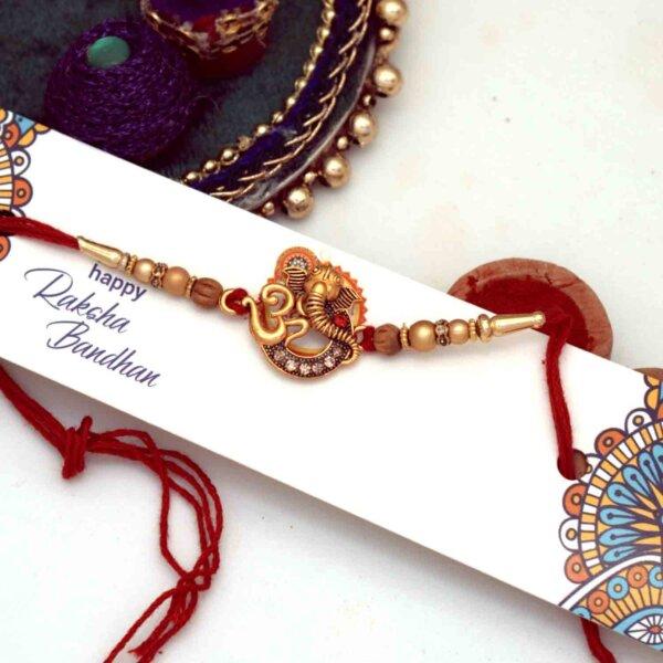 Designer Ganesha Om Rakhi