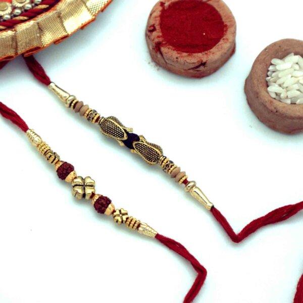 Ethnic duo Rakhi set of 2