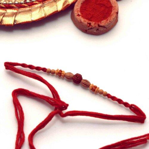 Traditional Rudraksha Rakhi