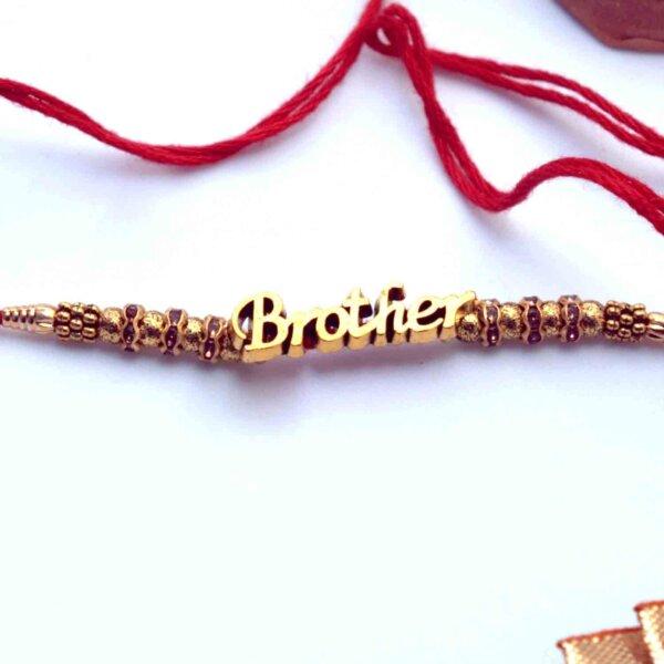 Brother rakhi with 12 pcs.Ferrero hazelnut 150Gms