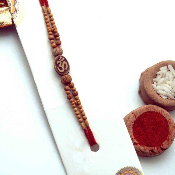 Wooden Om Rakhi