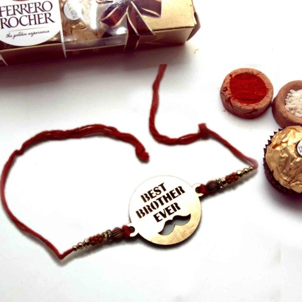 Best Brother Ever Kids Rakhi with Ferrero Rocher