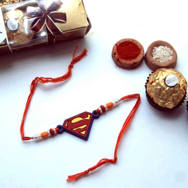 Superman Kids Rakhi with Ferrero Rocher