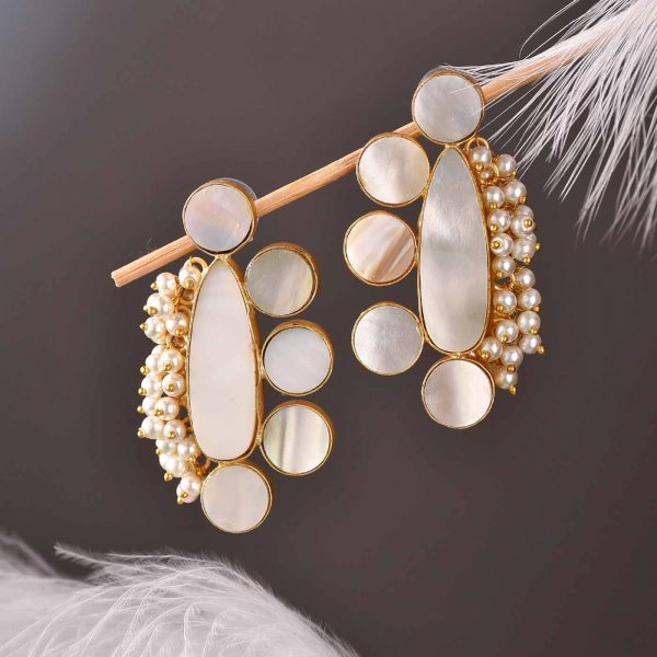 Pearl Paw Earrings
