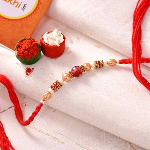 String of Beads Rakhi