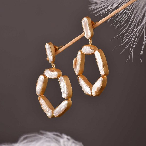 Pearl Chip Earrings