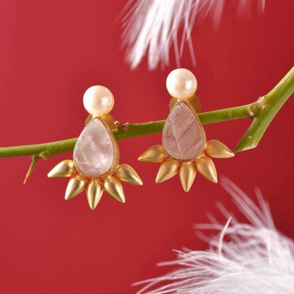Golden Petal Earrings