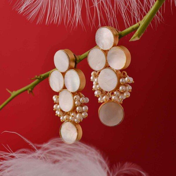 Pearl Bunch Earrings