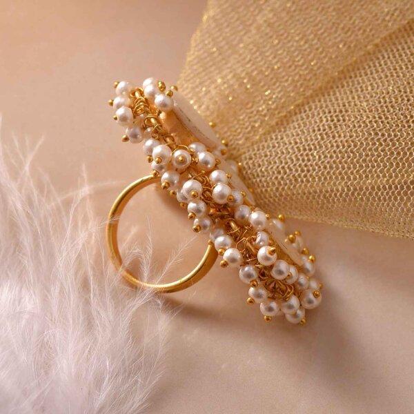 Triple  Grace Pearl Ring
